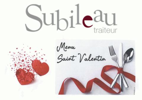 Menu St-Valentin Subileau Grand Maine Angers