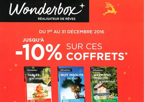 Offre coffrets Wonderbox Carrefour Voyages Angers Grand Maine