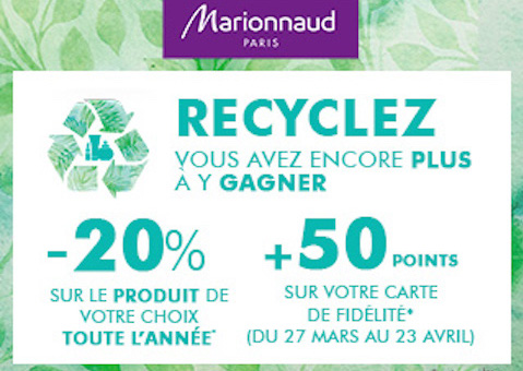 offre recyclage marionnaud grand maine angers