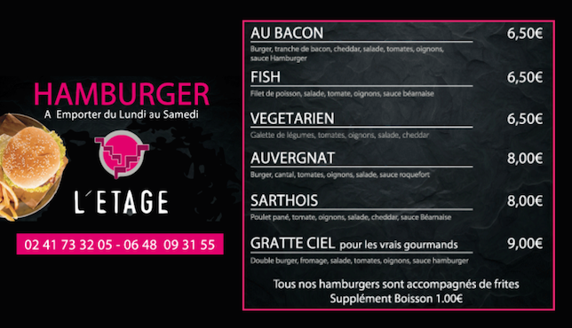Carte Etage Hamburger