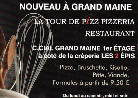 pizza offerte tour de pizz grand Maine angers