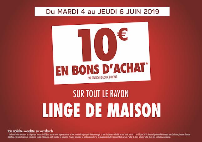 Offre Sur Tout Le Rayon Linger De Maison Hypermarché